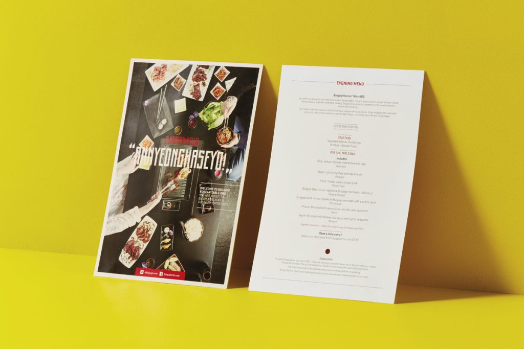 bulgogi grill menu design