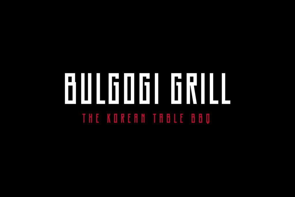 bulgogi grill logo design